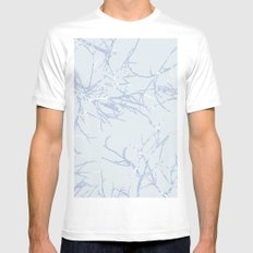 blue trees MEDIUM White Mens Fitted Tee