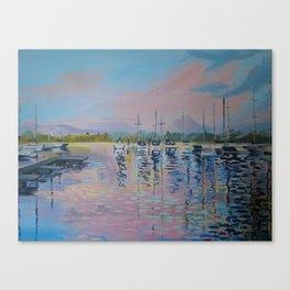 Pink sunrise over Windermere Canvas Print