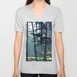 Trees In The Fog Unisex V-Neck