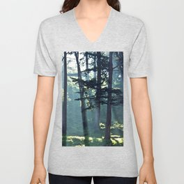 Trees In The Fog Unisex V-Neck