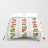 hats Duvet Covers featuring Elf Hats by applesandcinnamon