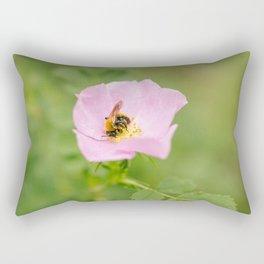Bumble Bee At Work Rectangular Pillow