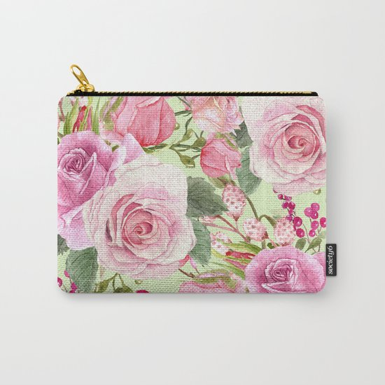 Watercolor Roses #5 Carry-All Pouch
