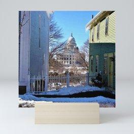 Rhode Island State House - Providence, Rhode Island by Jeanpaul Ferro Mini Art Print