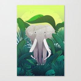 Elephant Jungle Sanctuary Canvas Print