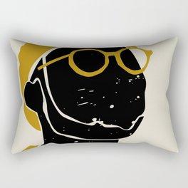 Black Hair No. 8 Rectangular Pillow