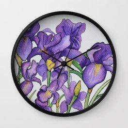 Pretty Purple Petals Wall Clock