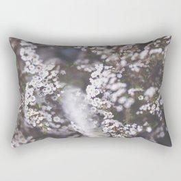 The Smallest White Flowers 01 Rectangular Pillow