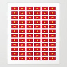 Flag of vietnam -Vietnamese,Việt Nam,hanoi,vietnamien,hanoi,tiếng Việt Art Print