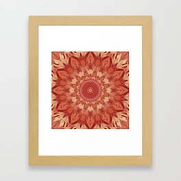 Mandala Flower red Framed Art Print