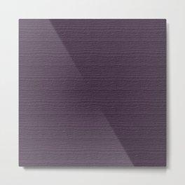 Vintage Violet Wood Grain Color Accent Metal Print