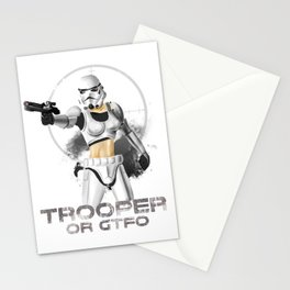 Trooper or gtfo Stationery Cards