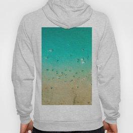 I'm A True Oceanholic | Aerial Beach Photography | Beach Wall Art Poster | People Having Fun | Ocean Hoody
