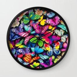 sheet of butterflies Wall Clock