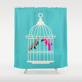 Enemies in the house Shower Curtain