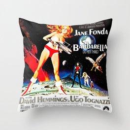 Go Barbarella! Throw Pillow