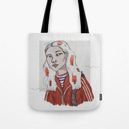 The Dig Dug Girl Tote Bag