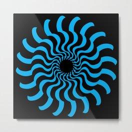 EYE 2(BLACK/BLUE) Metal Print