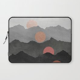 Mountains and the Moon - Black - Silver - Copper - Gold - Rose Gold Laptop Sleeve