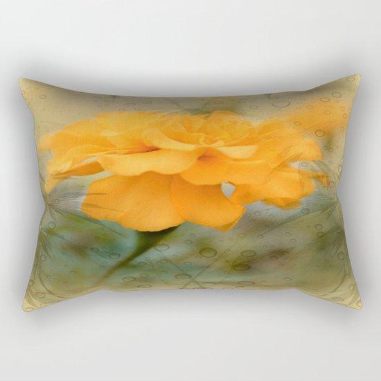 Orange Marigold  Raindrop Abstract Rectangular Pillow