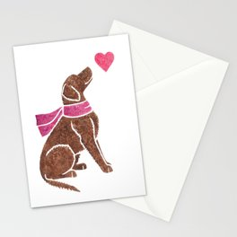 Watercolour Curly-coated Retriever Stationery Cards