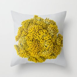 curry flowers II Throw Pillow