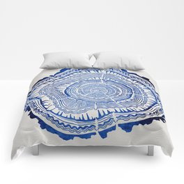 Growth Rings – 65 Years – Navy Comforters
