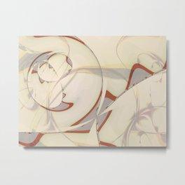 Abstract Art- Brown Art- Sacred Geometry Art- Fractal Art- Phetoosh- Marble Art Metal Print
