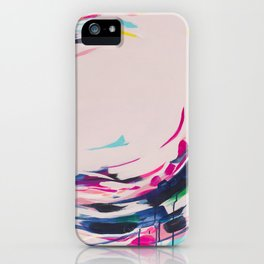 This Electric - Abstract Painting by Jen Sievers #society6 iPhone Case