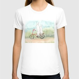 Bunnies on a Bicycle T-shirt