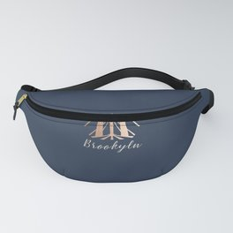 Rosegold on Navy Brooklyn Bridge Fanny Pack