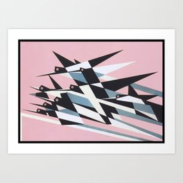 Soaring To Success, Abstract Geometric Retro Vintage Poster Art Print