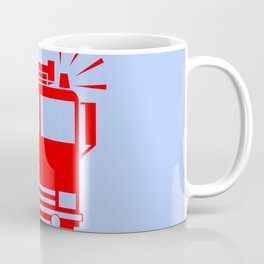 fire truck illustration Coffee Mug