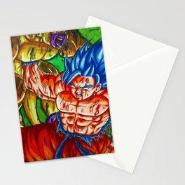 Ssb kaioken goku vs Golden frieza Stationery Cards