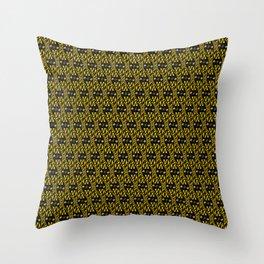 Filmstrip Art Deco Scat Cat Black Silver Copper Design Pattern Throw Pillow