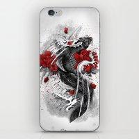 koi iPhone & iPod Skins featuring Black Koi by Marine Loup