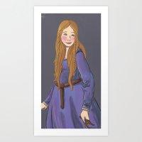 Elaine of Astolat Art Print