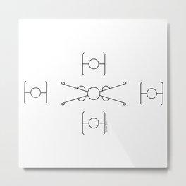 Geometric Minimal StarWars Pattern Metal Print