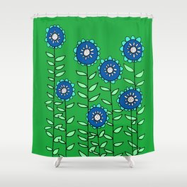 The Most Beautiful Patch of Flowers Shower Curtain