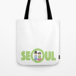 Seoul - Koreans in Traditional Costumes Tote Bag