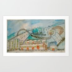 Livingston sports centre. Art Print