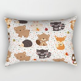 Woodland Nursery Pattern Rectangular Pillow