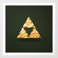 triforce Art Prints featuring Triforce by Florent Porta