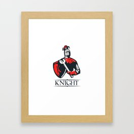 Cartoon plumber Knight Framed Art Print