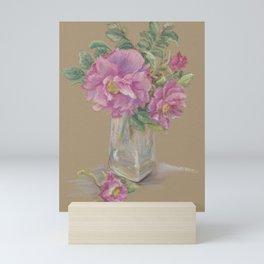 Wilde Rose bouquet in the glass Mini Art Print