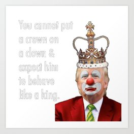 trump the clown Art Print
