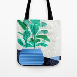 Ditz - house plant art neon pattern texture inky memphis style throwback 1980s 80s retro vintage  Tote Bag