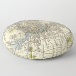 Map of St. Petersburg 1883 Floor Pillow