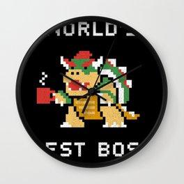 WORLD BEST BOSS Wall Clock