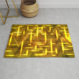 Golden cross on a yellow metal background. Rug